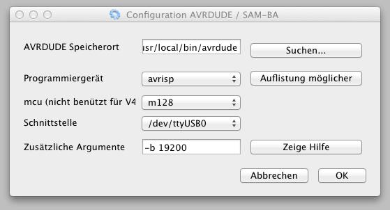 Configuration AVRDUDE _ SAM-BA