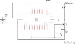 flackerplatine arduino_Schaltplan